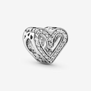 Pandora Sparkling Freehand Heart Charm